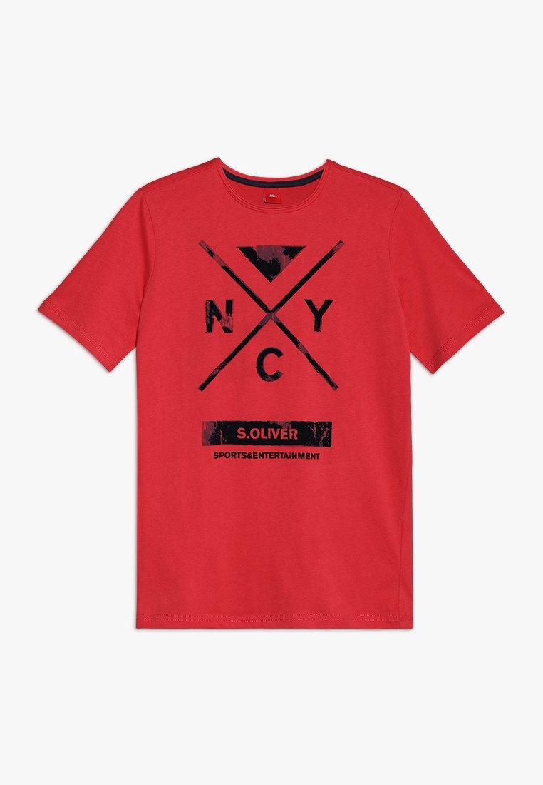 s.Oliver - KURZARM - Camiseta estampada - red