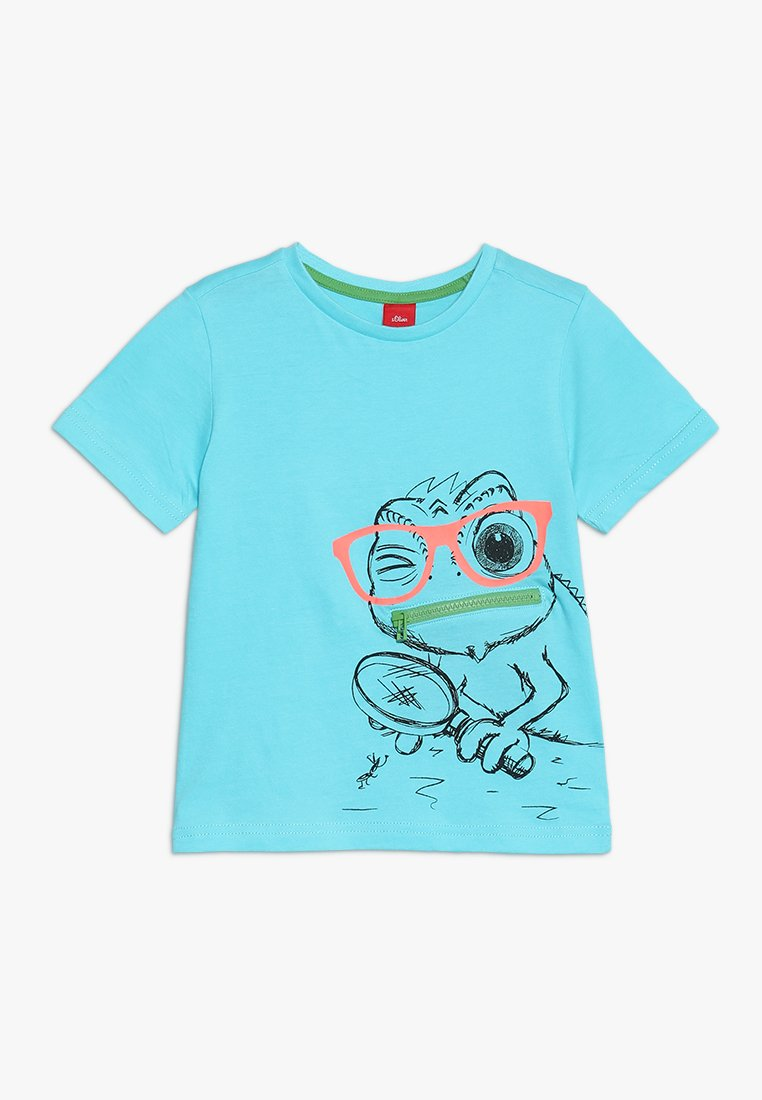 s.Oliver - KURZARM - T-shirt med print - turquoise