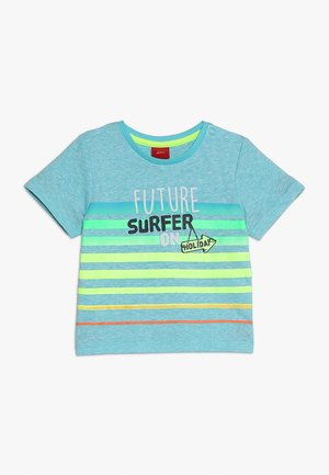 T-shirt imprimé - turquoise melange