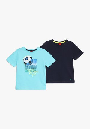 KURZARM 2 PACK - Print T-shirt - blue