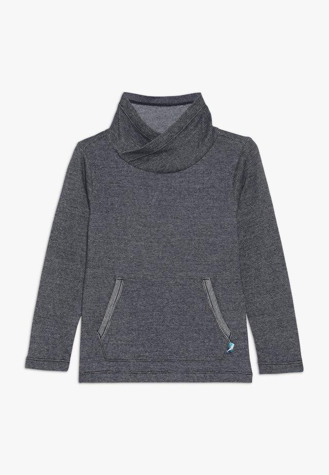 Longsleeve - dark blue melange