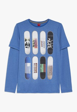 Longsleeve - blue single dye melange