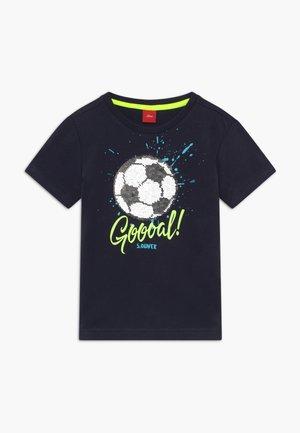 KURZARM - Print T-shirt - dark blue