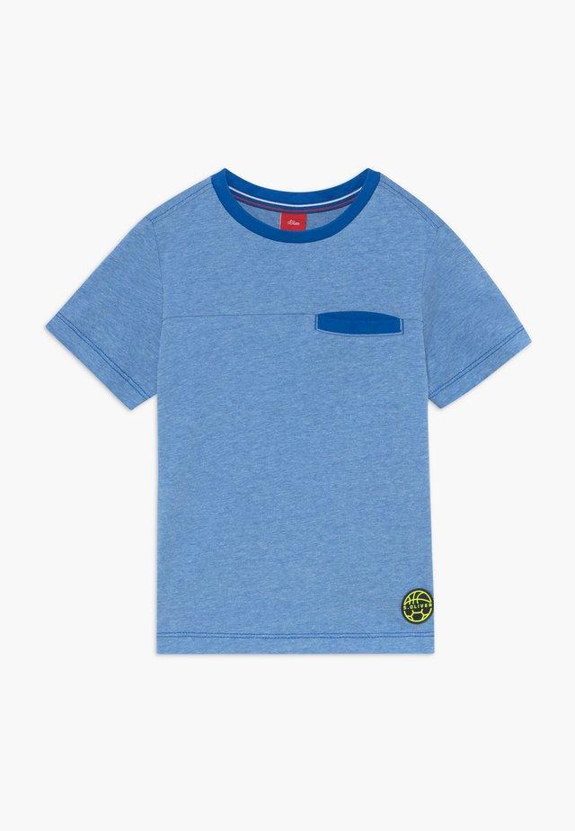 KURZARM - T-shirt print - blue melan