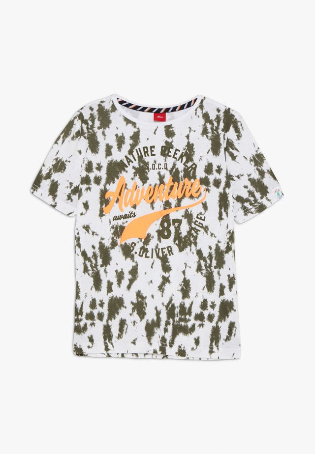 KURZARM - T-shirt print - white/olive