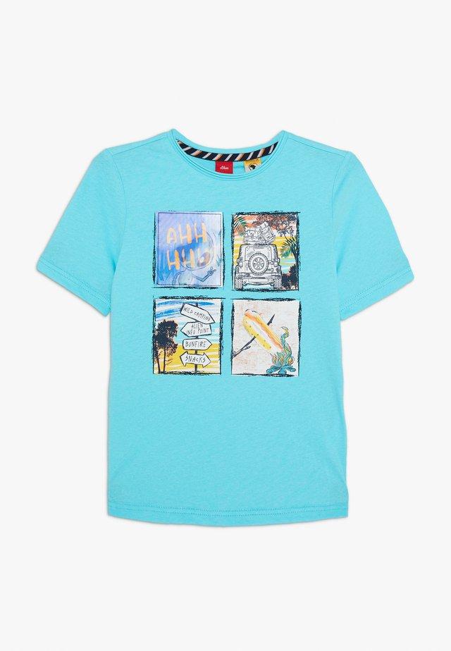 KURZARM - T-shirt print - türkisblau