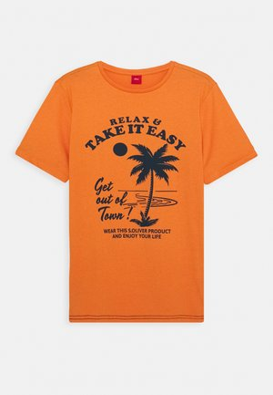 KURZARM - Print T-shirt - bitter orange