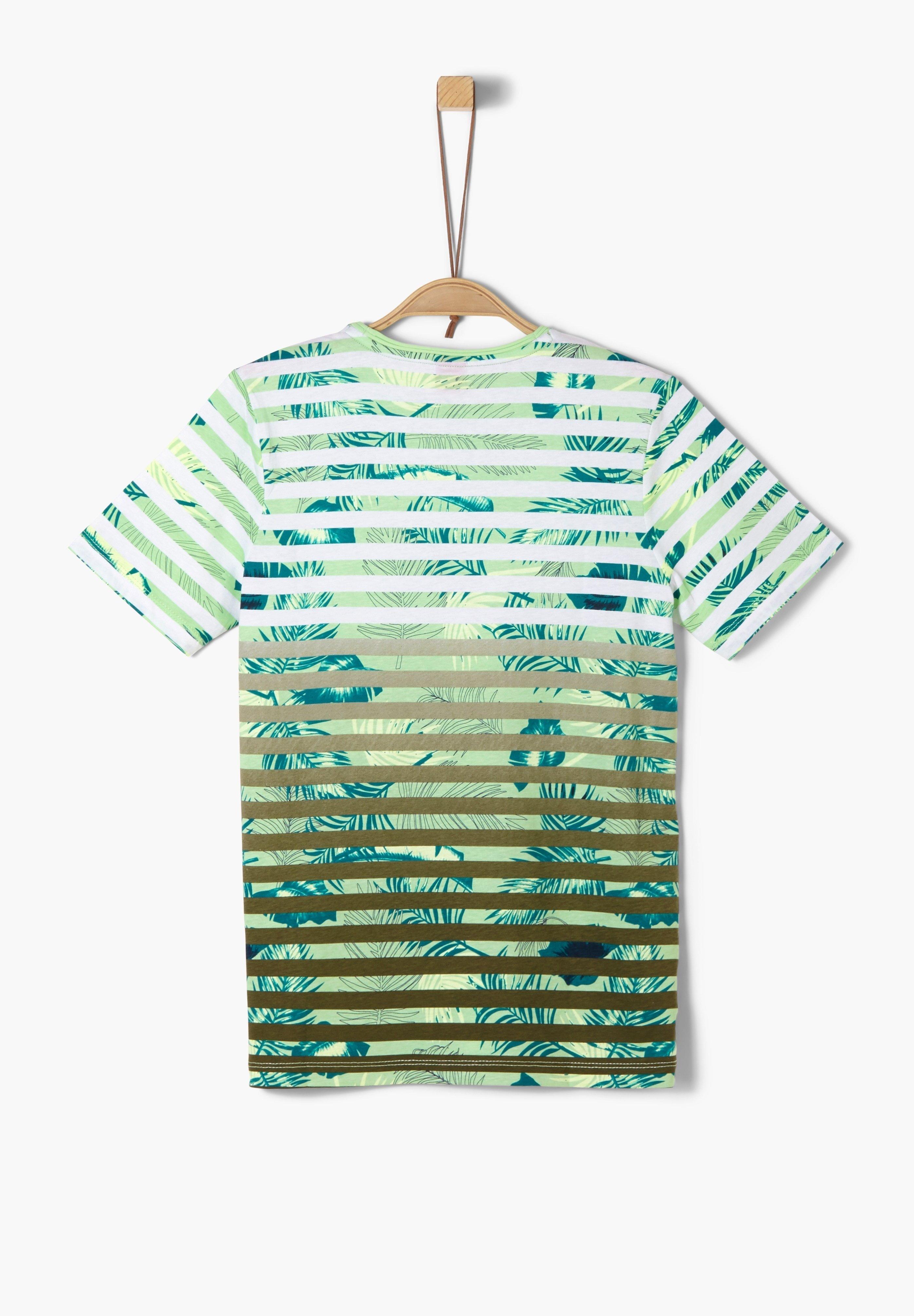 S.oliver Print T-shirt - Light Green Aop