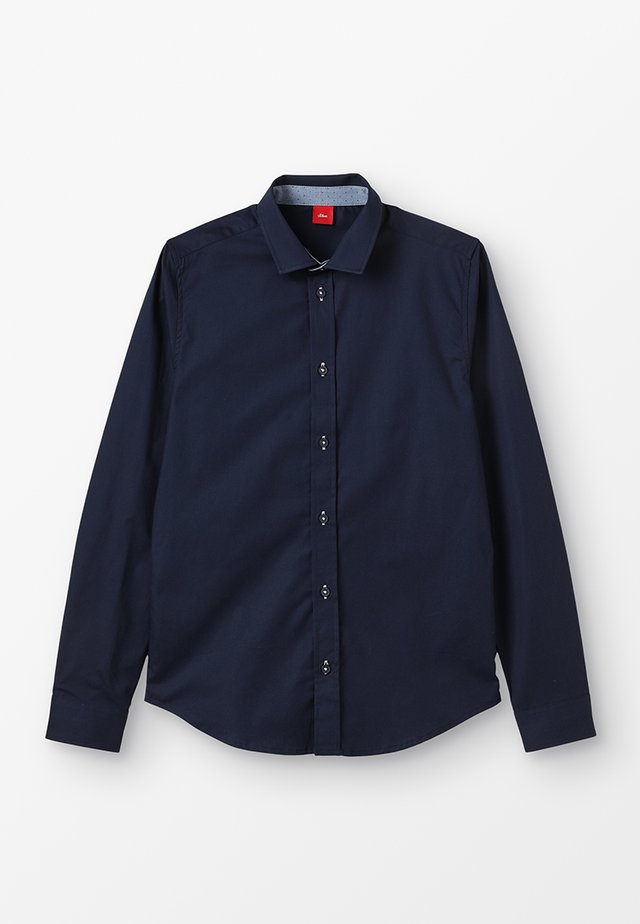 LANGARM SLIM FIT - Skjorta - dark blue