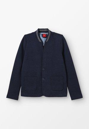 Zip-up hoodie - dark blue melange
