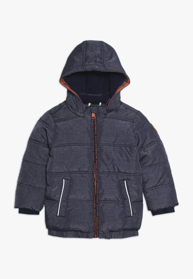 JACKE - Winterjas - dark blue melange