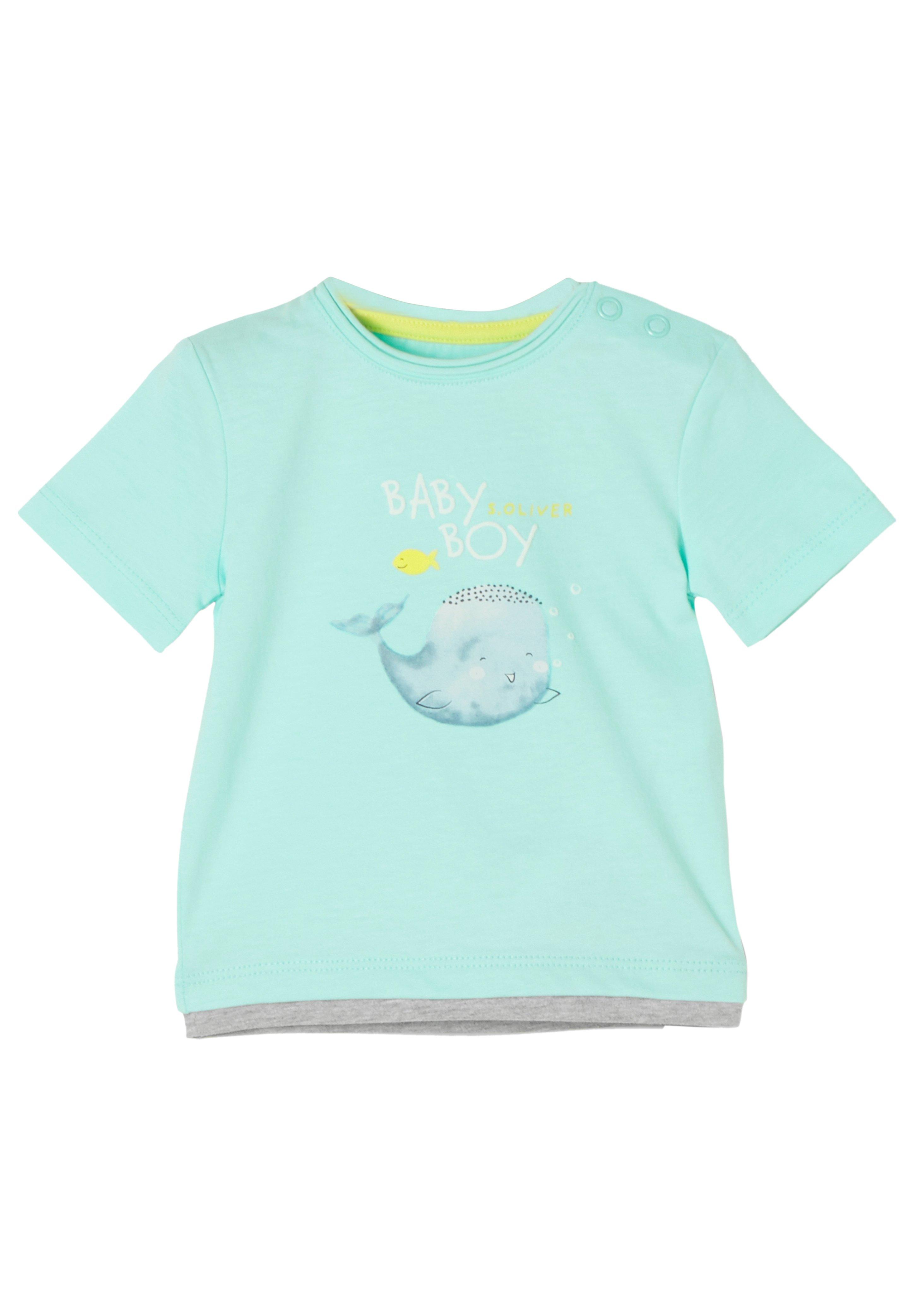 Große Förderung s.Oliver T-Shirt print - mint/grey melange | Damenbekleidung 2020