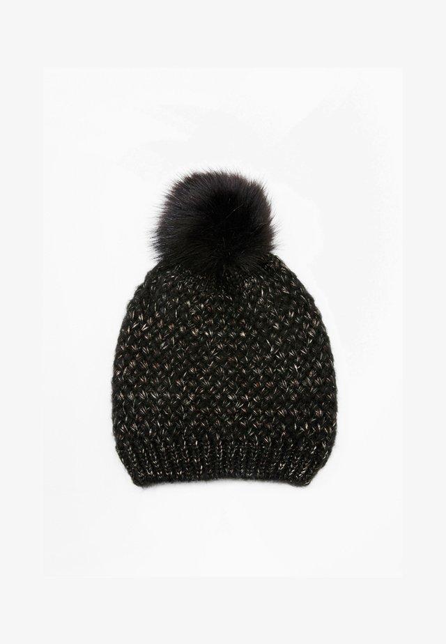 MIT METALLIC-EFFEKTEN - Mütze - black