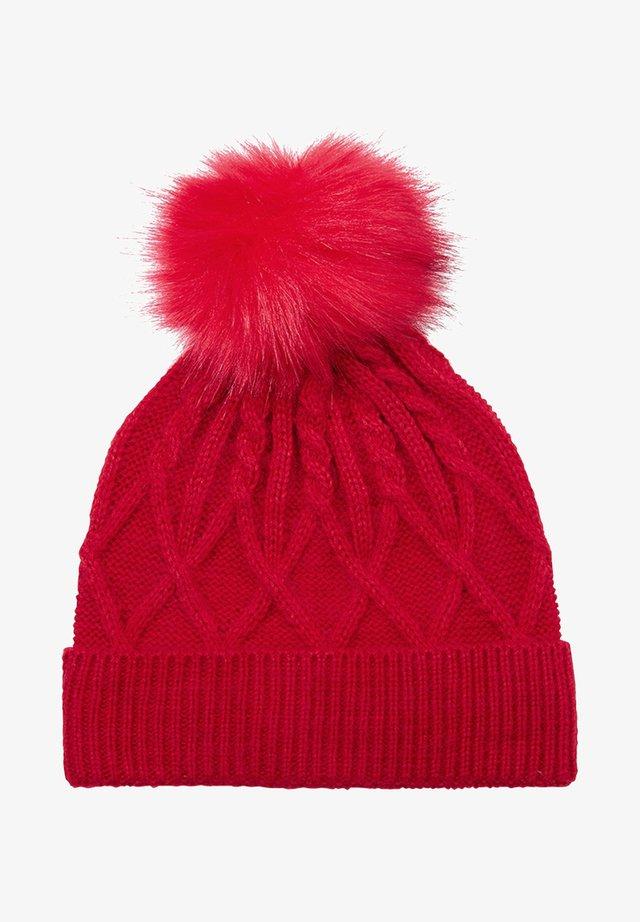 Mütze - poppy red