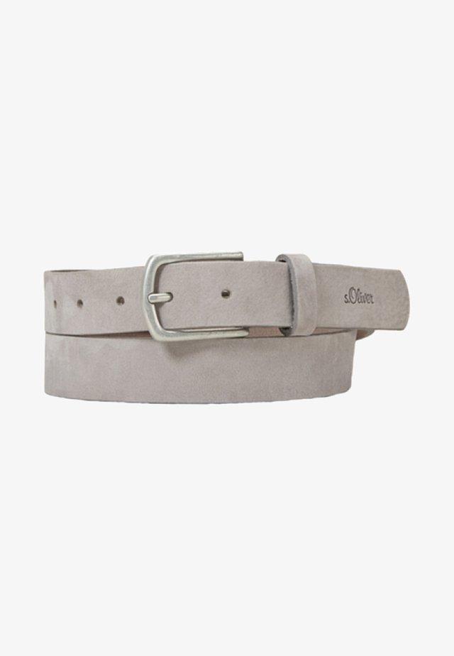 GÜRTEL AUS VELOURSLEDER - Belt - grey