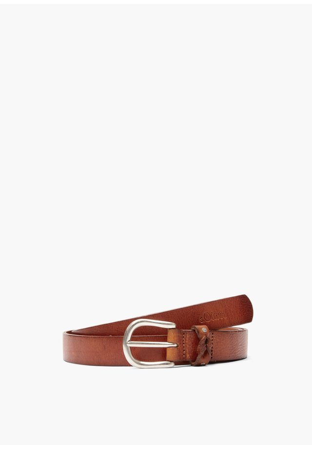 LEDERGÜRTEL IM VINTAGE-LOOK - Belt - brown