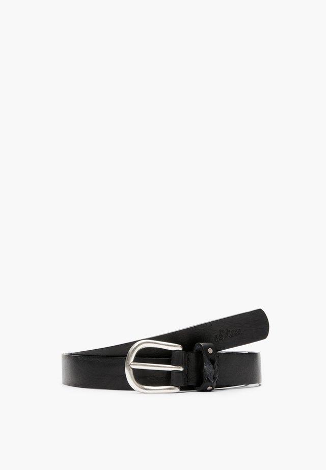 LEDERGÜRTEL IM VINTAGE-LOOK - Belt - black