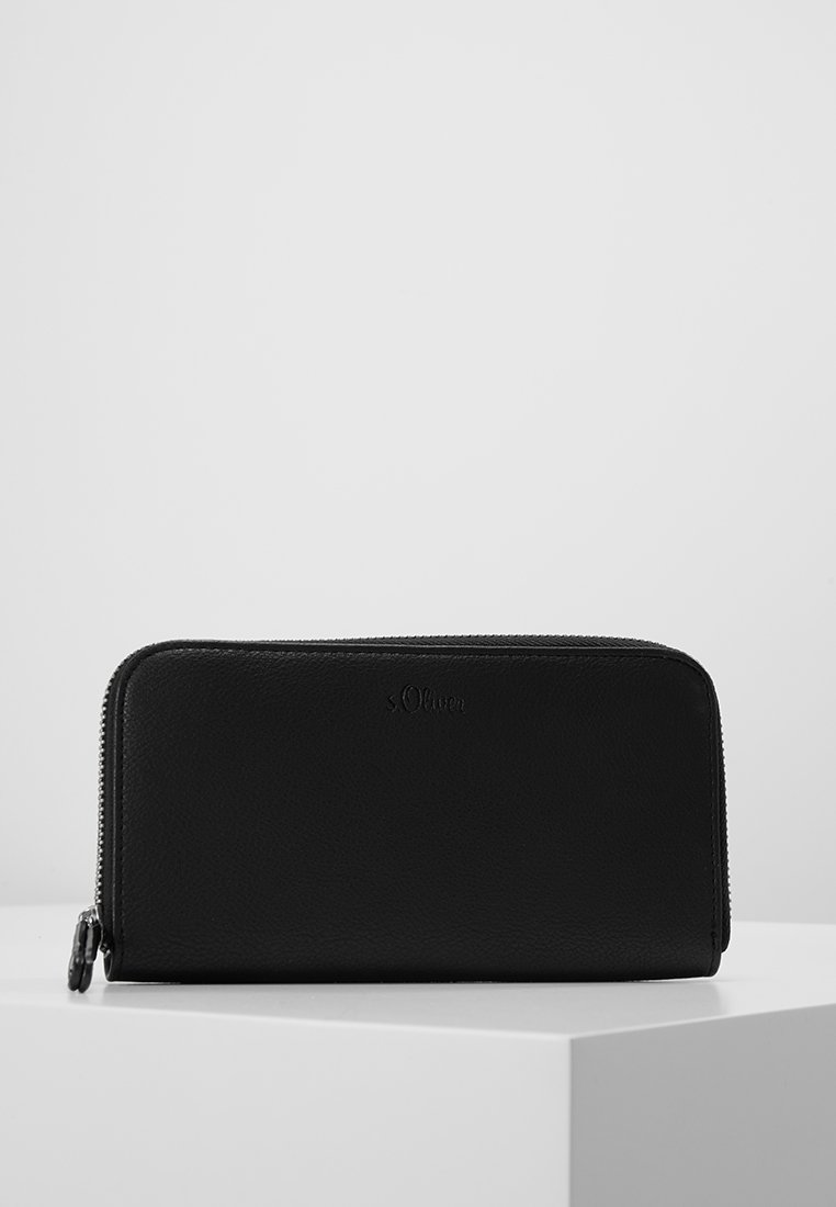 s.Oliver - ZIP WALLET - Monedero - black
