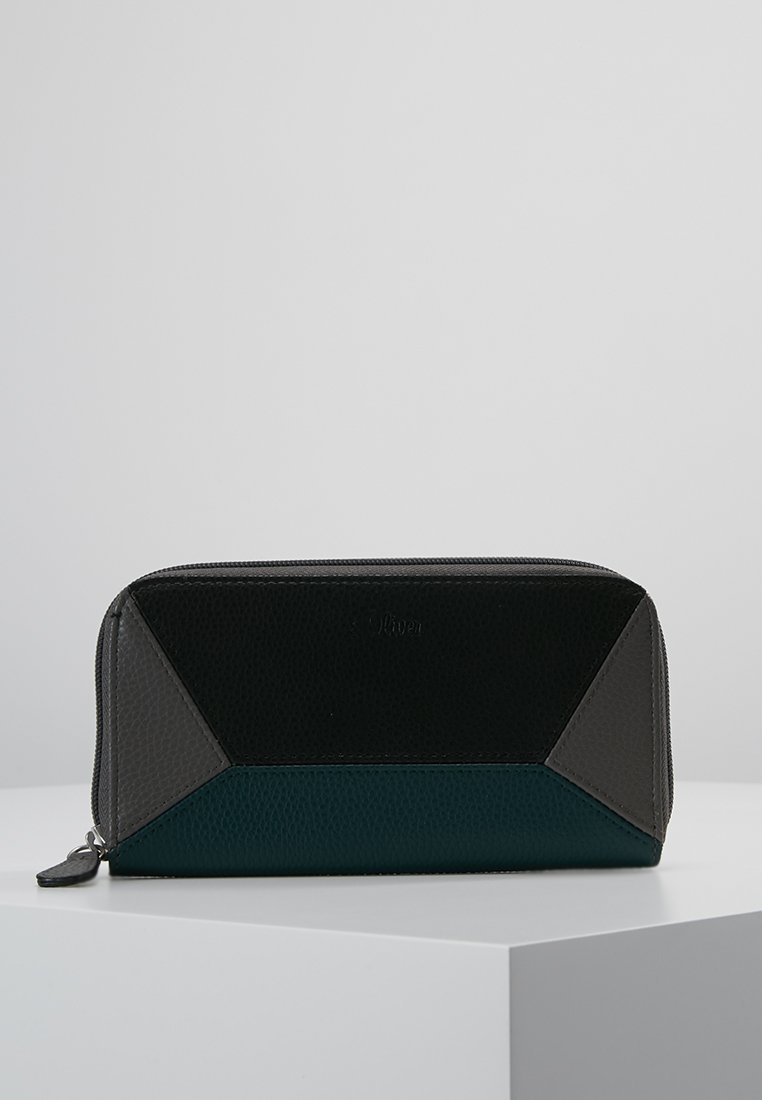 s.Oliver - ZIP WALLET - Wallet - limestone grey