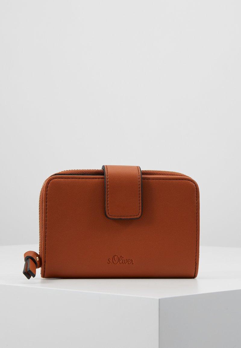 s.Oliver - ZIP WALLET - Portafoglio - brown