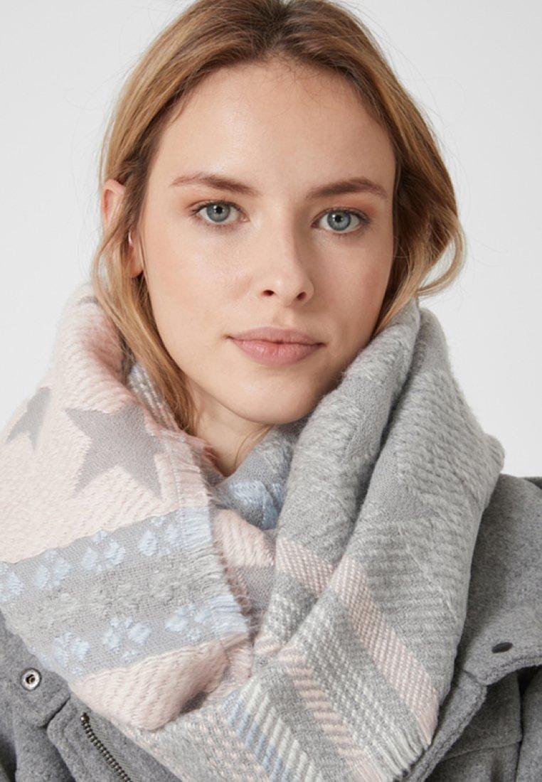 s.Oliver - MIT JACQUARDMUSTER - Schlauchschal - grey knit