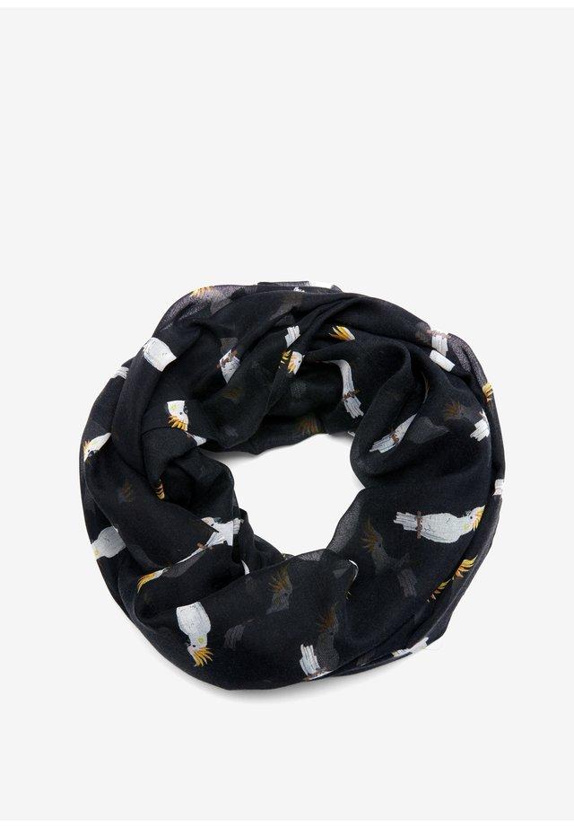 LOOP MIT ALLOVERMUSTER - Snood - black aop