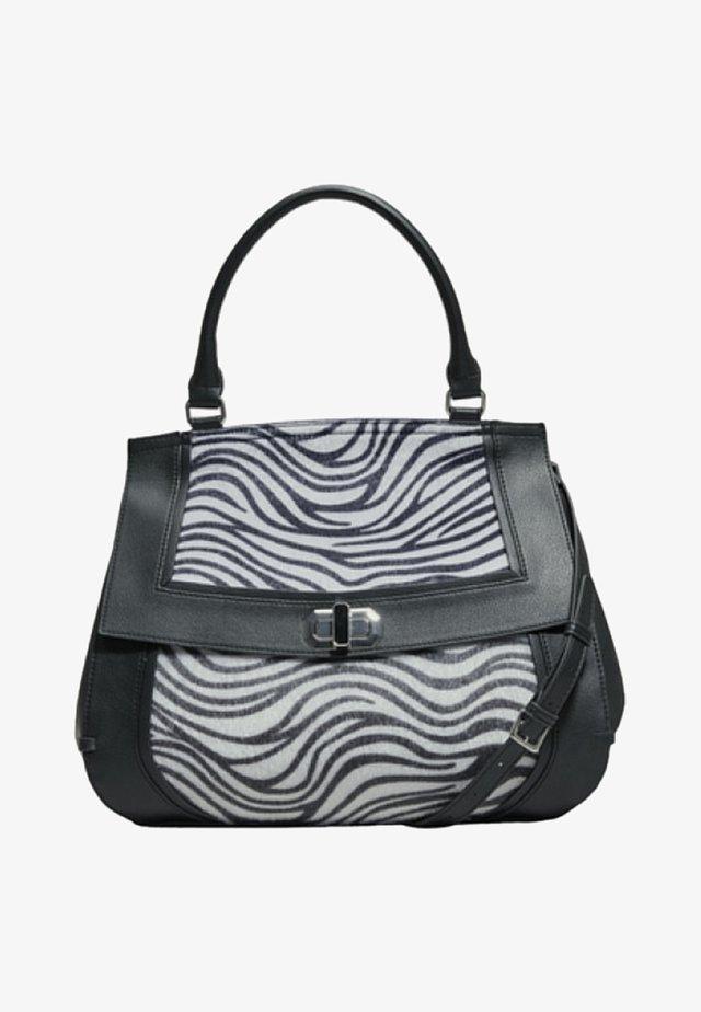 Handtasche - black/white