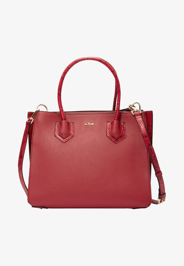 IN REPTILLEDER-OPTIK - Shopping Bag - red