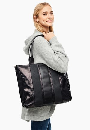 IM STRUKTURMIX - Shopper - black