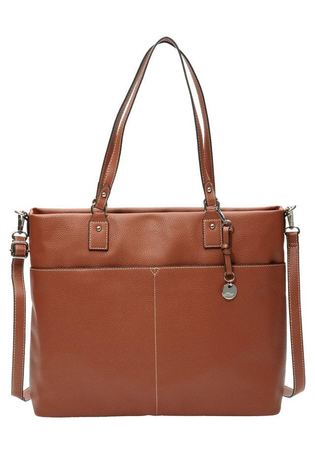 GERÄUMIGER SHOPPER IN LEDER-OPTIK - Shopping Bag - brown