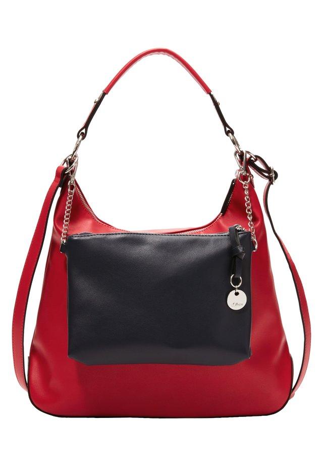 2-IN-1-HOBO BAG IN GLATTLEDER-OPTIK - Handtasche - red