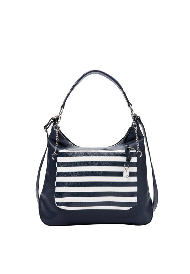 2-IN-1-HOBO BAG IN GLATTLEDER-OPTIK - Handtasche - blue