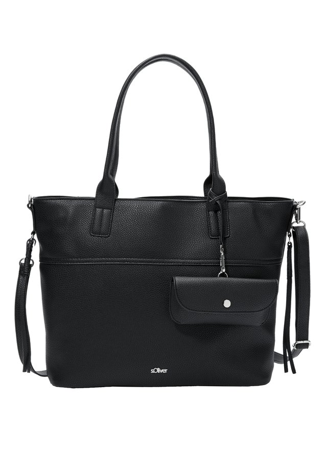 SHOPPER MIT ZUSATZTÄSCHCHEN - Shopping Bag - black