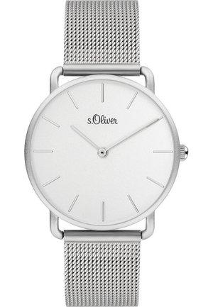 S.OLIVER DAMEN-UHREN ANALOG QUARZ - Watch - silber