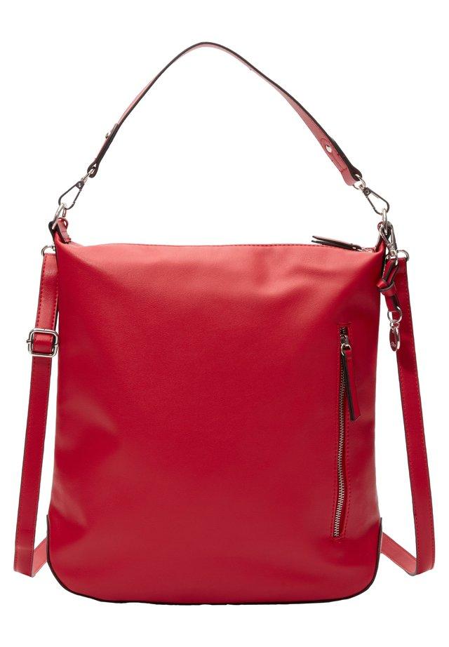 SHOPPER MIT TRAGEVARIANTE - Shopping Bag - red