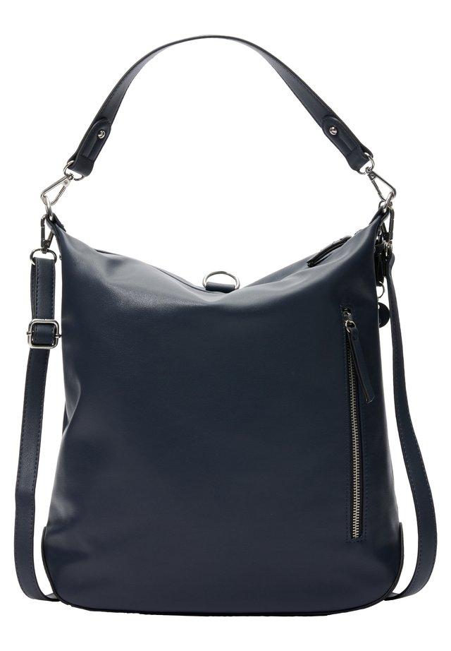SHOPPER MIT TRAGEVARIANTE - Shopping Bag - blue