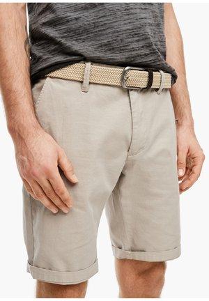 Braided belt - beige herringbone