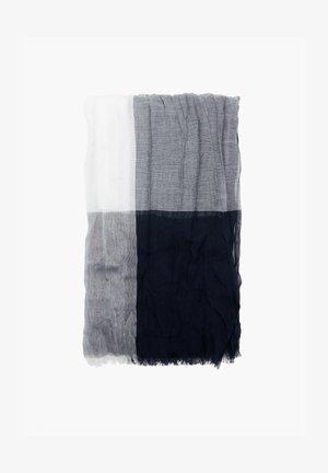 LEICHTER SCHAL MIT WEBSTRUKTUR - Scarf - blue check