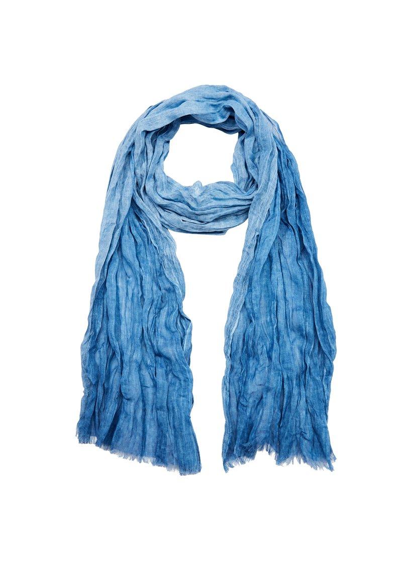 s.Oliver - MIT MUSTERSTRUKTUR - Scarf - mountain blue