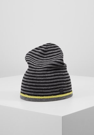 Mütze - dark grey melange stripes