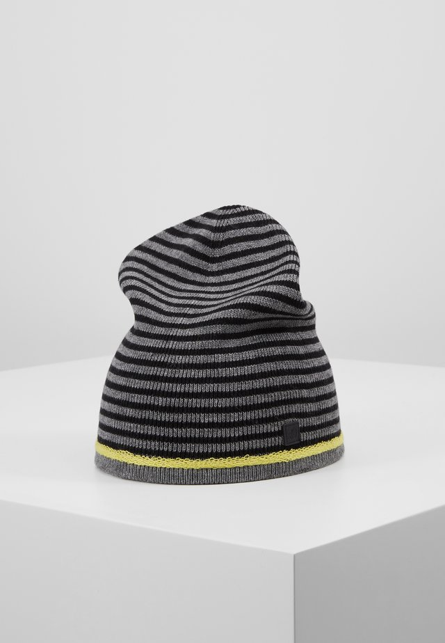 Muts - dark grey melange stripes