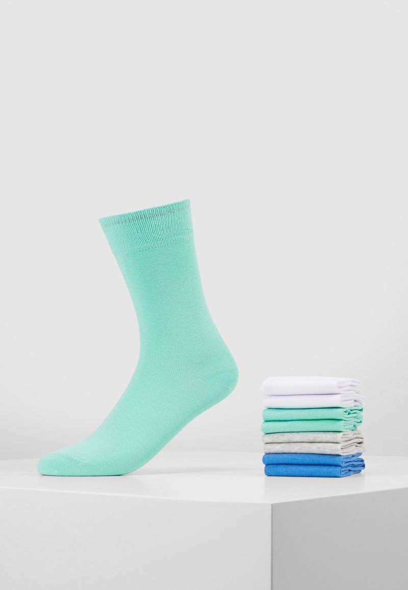 s.Oliver - 8 PACK - Sokken - mint/light grey/blue