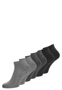 s.Oliver - 6 PACK - Calze - anthracite/grey - 0