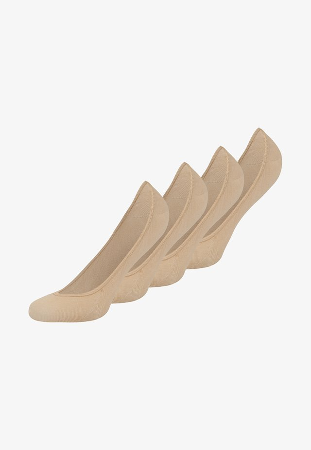FOOTY 4 PACK - Trainer socks - sand