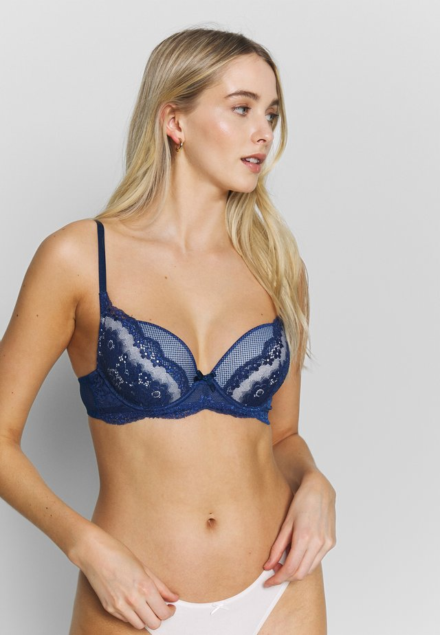 LIENNE BRA - Push-up BH - navy/rosé