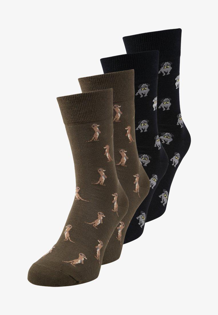 s.Oliver - UNISEX FASHION 4 PACK - Socks - dark olive/navy