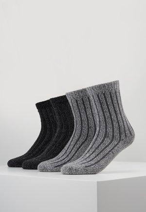 UNISEX FASHION HYGGE 4 PACK - Ponožky - anthracite