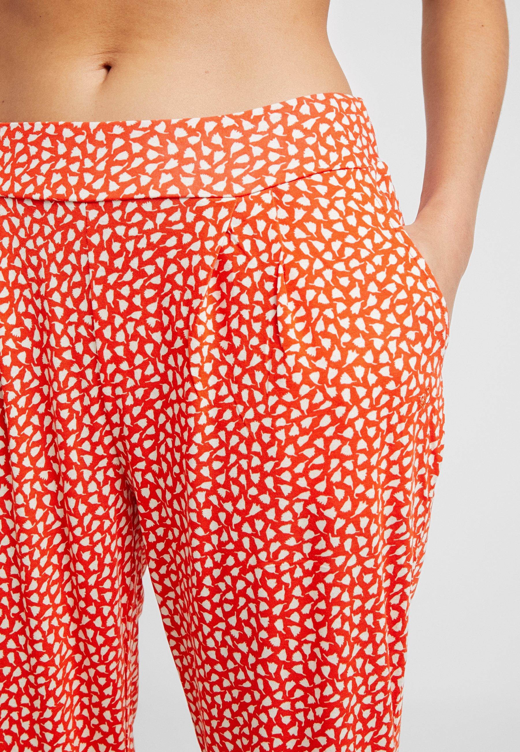 s.Oliver Pantaloni del pigiama - orange/creme tEjkrZH5