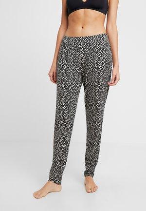 Pyjamabroek - schwarz/crem