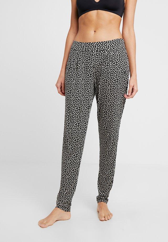 Spodnie od piżamy - schwarz/crem